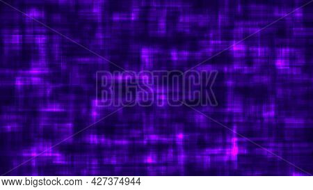 Abstract Geometric Background Of Blurred Purple Lights On Dark Blue Backdrop. Vector Illustration.