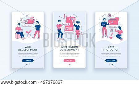 Web Application Development Banner. Improving Search Engine Optimization And Mobile Social App. Prog
