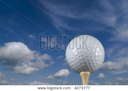Golf Ball And Sky