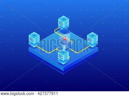 Isometricquantum1Blue
