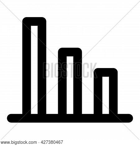 Business Graph Chart Icon. Outline Business Graph Chart Vector Icon For Web Design Isolated On White