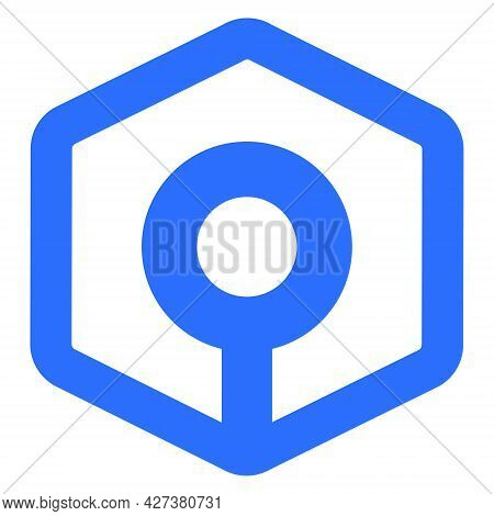 Ankr Token Symbol Of The Defi Project Cryptocurrency Logo, Decentralized Finance Coin Icon Isolated