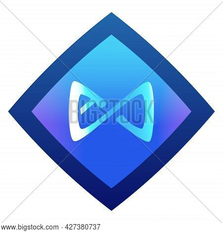 Axie Infinity Axs Token Symbol Cryptocurrency Logo, Coin Icon Isolated On White Background. Color Ve