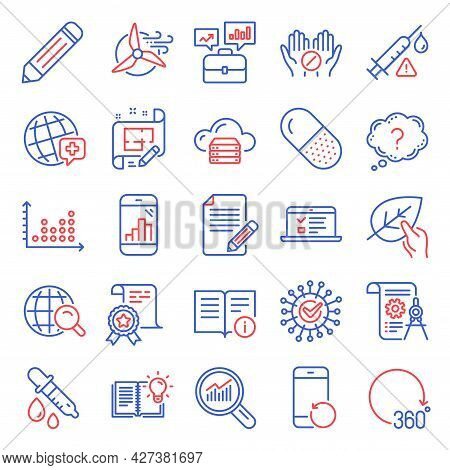Science Icons Set. Included Icon As Recovery Phone, Cloud Server, Product Knowledge Signs. Organic T