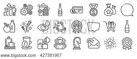 Set Of Business Icons, Such As Best Rank, Flights Application, Speech Bubble Icons. Receive Mail, Gr