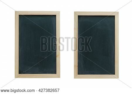 Two Chalkboard Background With Rubbed Dirty Chalkboard.