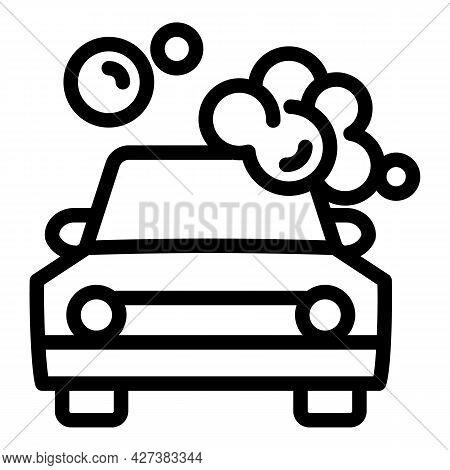 Bubble Foam Car Wash Icon. Outline Bubble Foam Car Wash Vector Icon For Web Design Isolated On White