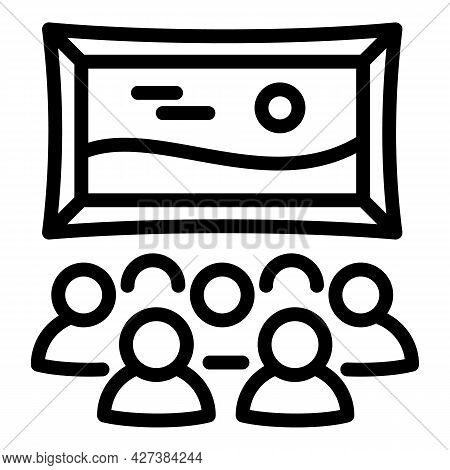 Art Gallery Icon. Outline Art Gallery Vector Icon For Web Design Isolated On White Background