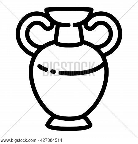 Ancient Vase Icon. Outline Ancient Vase Vector Icon For Web Design Isolated On White Background