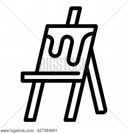Museum Easel Icon. Outline Museum Easel Vector Icon For Web Design Isolated On White Background