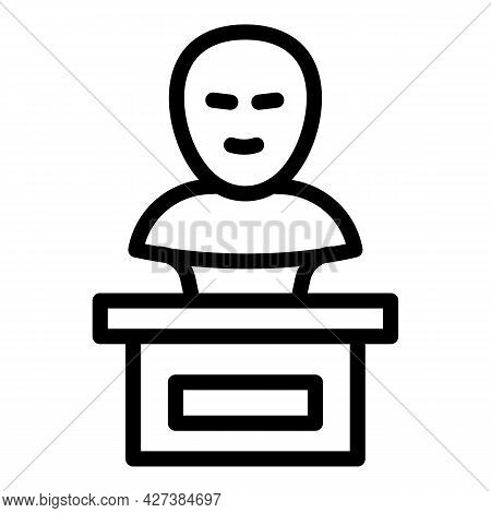 Ancient Bust Icon. Outline Ancient Bust Vector Icon For Web Design Isolated On White Background