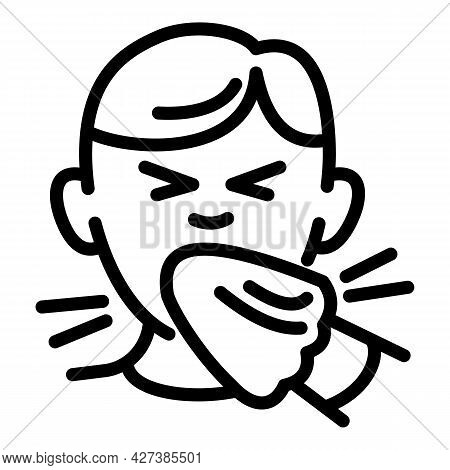 Flu Kid Icon. Outline Flu Kid Vector Icon For Web Design Isolated On White Background
