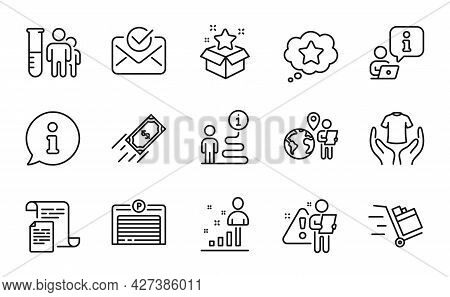 Business Icons Set. Included Icon As Loyalty Star, Medical Analyzes, Stats Signs. Parking Garage, Ou