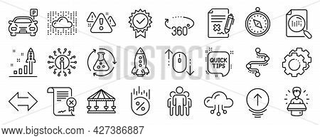 Set Of Technology Icons, Such As Settings Gears, Reject File, Group Icons. Reject Certificate, Timel