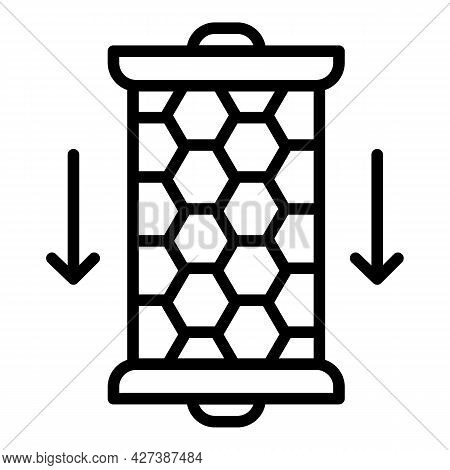 Carbon Water Filter Cartridge Icon. Outline Carbon Water Filter Cartridge Vector Icon For Web Design