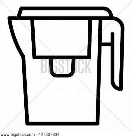 Classic Water Filter Jug Icon. Outline Classic Water Filter Jug Vector Icon For Web Design Isolated