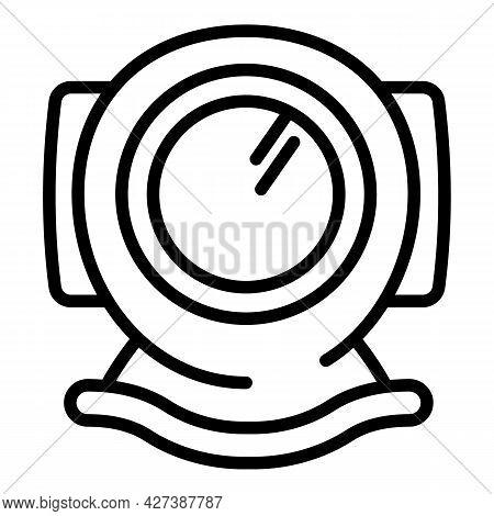 Snorkeling Helmet Icon. Outline Snorkeling Helmet Vector Icon For Web Design Isolated On White Backg