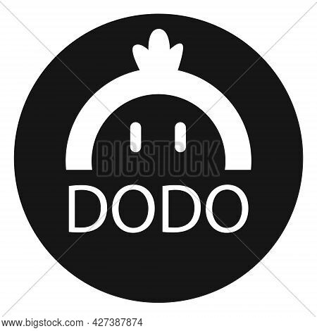 Dodo Token Symbol Of The Defi Project Cryptocurrency Logo In Circle, Decentralized Finance Coin Icon