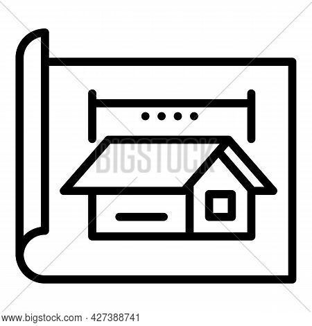 Architect Cabana Project Icon. Outline Architect Cabana Project Vector Icon For Web Design Isolated
