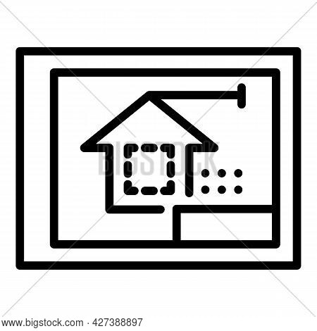 Architect Tablet Icon. Outline Architect Tablet Vector Icon For Web Design Isolated On White Backgro