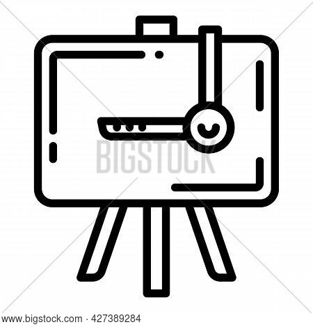 Architect Board Icon. Outline Architect Board Vector Icon For Web Design Isolated On White Backgroun