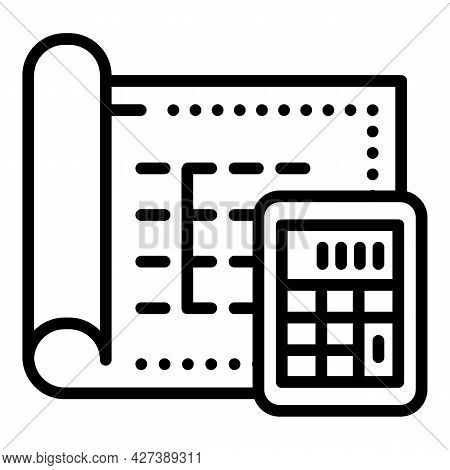 Use Architect Calculator Icon. Outline Use Architect Calculator Vector Icon For Web Design Isolated