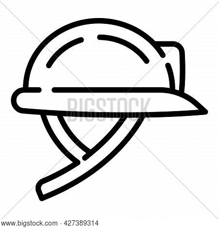 Protect Helmet Architect Icon. Outline Protect Helmet Architect Vector Icon For Web Design Isolated