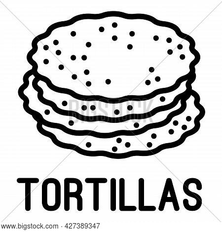 Tortillas Icon. Outline Tortillas Vector Icon For Web Design Isolated On White Background