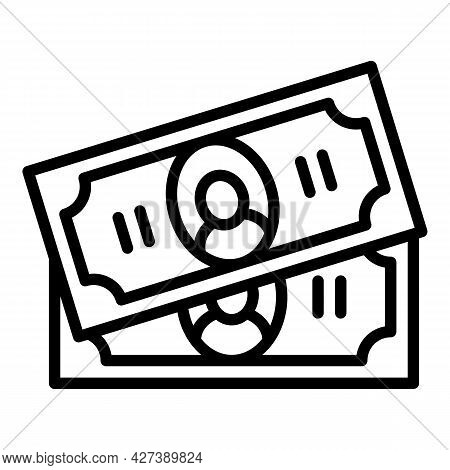 Pet Hotel Money Cash Icon. Outline Pet Hotel Money Cash Vector Icon For Web Design Isolated On White