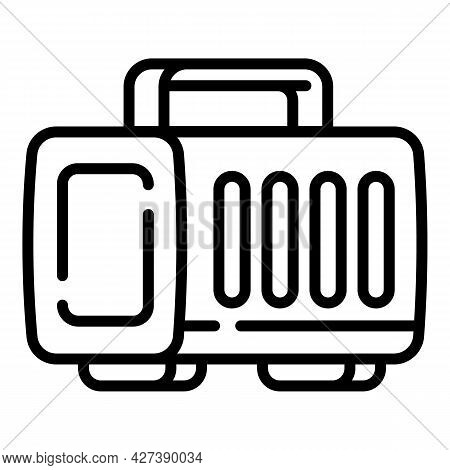 Plastic Pet Portable Box Icon. Outline Plastic Pet Portable Box Vector Icon For Web Design Isolated