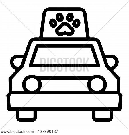 Pet Taxi Icon. Outline Pet Taxi Vector Icon For Web Design Isolated On White Background