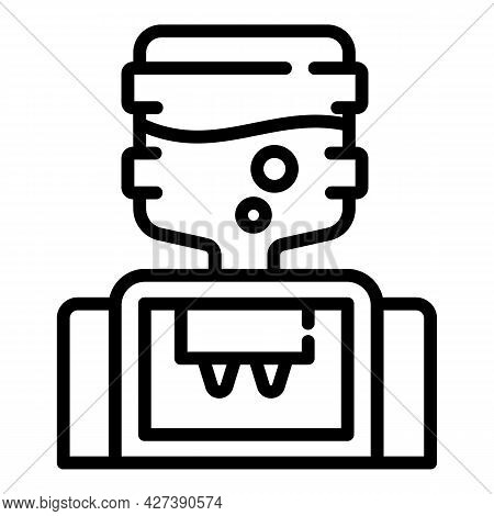 Modern Water Cooler Icon. Outline Modern Water Cooler Vector Icon For Web Design Isolated On White B