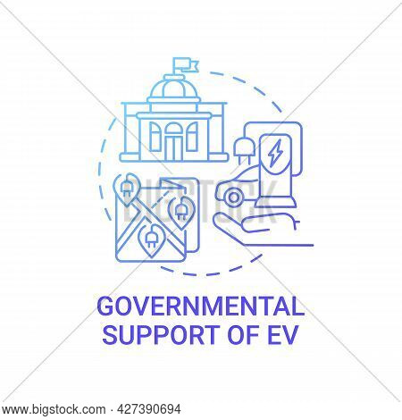 Ev Governmental Support Concept Icon. Eco-friendly Buying Promotion Abstract Idea Thin Line Illustra
