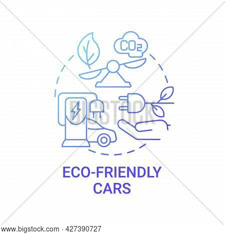 Electric Vehicle Benefits Concept Icon. Eco-friendly Advantages Abstract Idea Thin Line Illustration