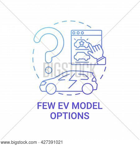 Few Electric Vehicles Model Options Concept Icon. Ev Advanced Eco Technology Abstract Idea Thin Line