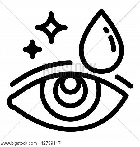 Drop Gel Contact Lens Icon. Outline Drop Gel Contact Lens Vector Icon For Web Design Isolated On Whi