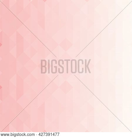 Pixel Background In Pink. Color Gradient, Abstract Texture.