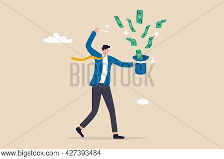 Get Rich Fast, Make Money Or Profit From Investment,fed Or Central Bank Stimulation Money, Financial