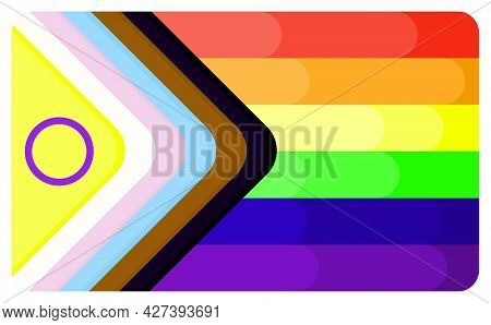 Tolerance And Love Community Flag With New Variant. Flat Style