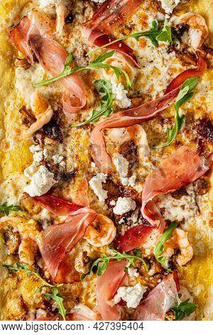 biz size pizza, top view