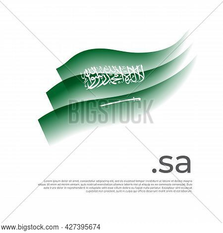 Saudi Arabia Flag Watercolor. Stripes Colors Of The Saudi Arabian Flag On A White Background. Vector