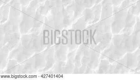 White Background, Smooth Gray Lines, Imitation Of Waves, Abstract Background, Template For Poster An