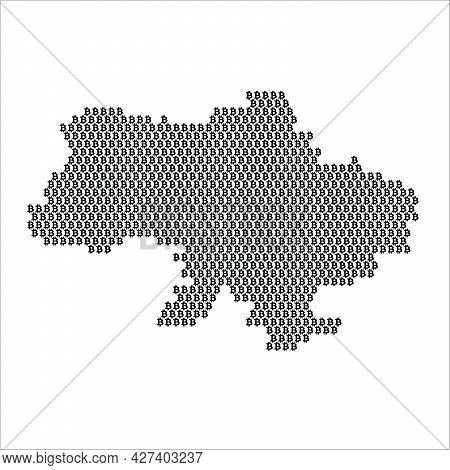 Ukraine Country Map Made With Bitcoin Crypto Currency Logo