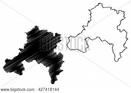 Saarbrucken District (federal Republic Of Germany, State Of Saarland, Rural District) Map Vector Ill