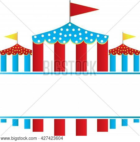 Blank Blue And Red Circus Festival Tents Logo