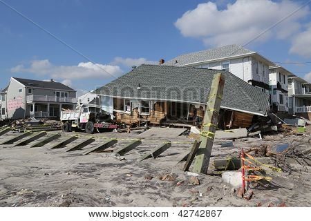 Hurricane Sandy five months after