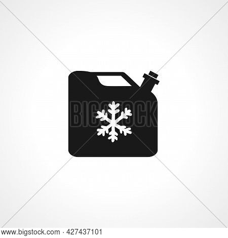 Antifreeze Jerrycan Icon. Antifreeze Isolated Simple Vector Icon.