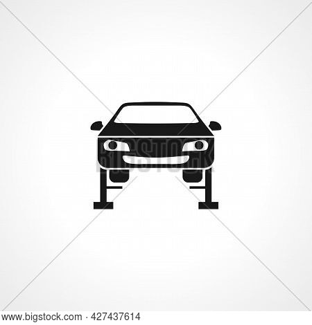 Car Lifting Icon. Car Repair Icon. Car Lifting Isolated Simple Vector Icon.
