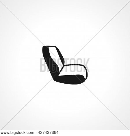 Car Seat Icon. Car Seat Isolated Simple Vector Icon.