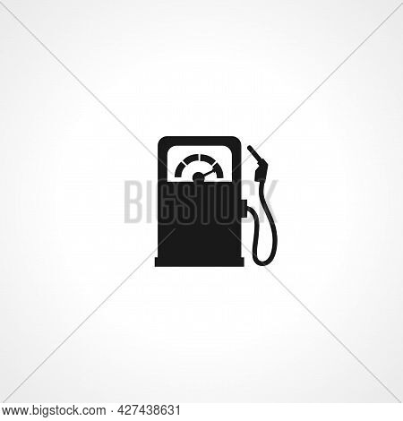 Gas Station Icon. Gas Station Isolated Simple Vector Icon.